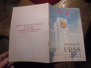 Livret-des-Exposants-Russes-Pavillon-de-l-039-URSS-Foire-Internationale-de-Lyon-1954