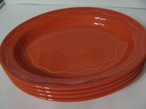 Vintage Syracuse China Restaurant Ware Oval Platter Red Rim 93-G