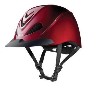 Troxel Riding Helmet Liberty Ruby Red Equine Horse Safety Low Profile Medium
