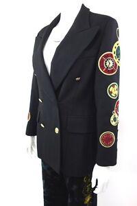 RARE-ESCADA-Womens-Collectible-CLOCK-PATCHES-Vintage-Blazer-Jacket-Size-38-US-8