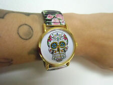 Montre fantaisie crane tete de mort mexicain fete des morts bracelet élastique