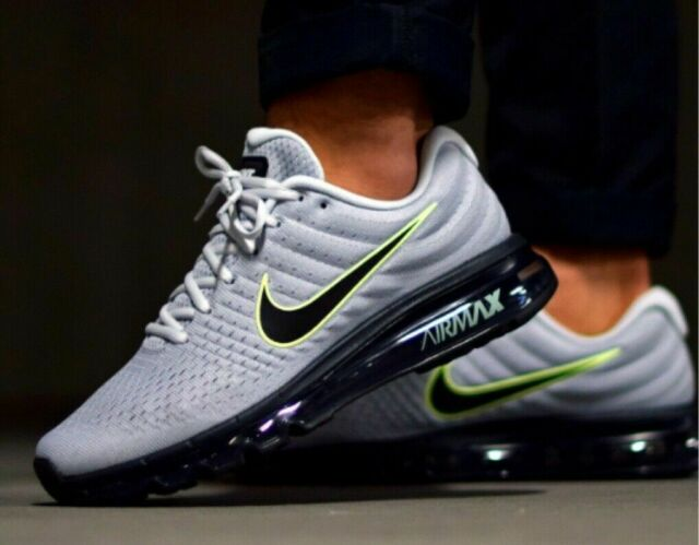Nike Air Max 2017 Wolf Grey Platinum 849559 012 Running Shoes Men's ALL SIZES