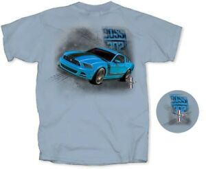 Mustang-BOSS-302-Grabber-Blue-T-Shirt-Exclusive-Item-with-FREE-USA-SHIPPING