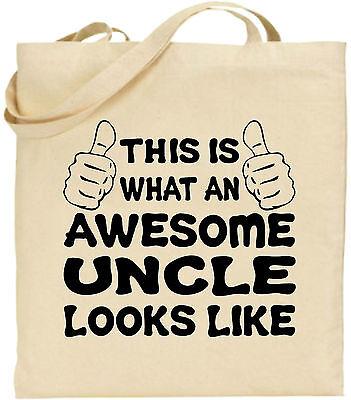 Toll Onkel Groß Baumwolltasche Einkaufstasche Leinen Lustig Mann Weihnachten