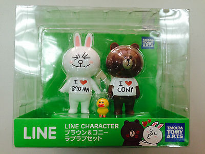 TAKARA TOMY A.R.T.S APP LINE CHARACTER BROWN & CONY FIGURE 3 PCS SET