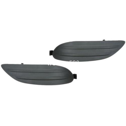 Pair For 2005-2008 TOYOTA COROLLA Black Fog Lamp Lights Cover Cap W//O HOLE