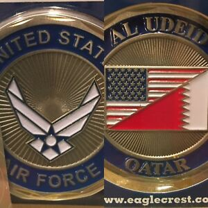 Details about AIR FORCE AL UDEID AIR BASE QATAR USA FLAG 1 75