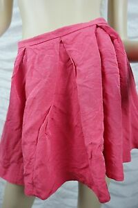 WITCHERY-pink-ribbed-high-waisted-pleated-A-line-full-skirt-size-12-EUC