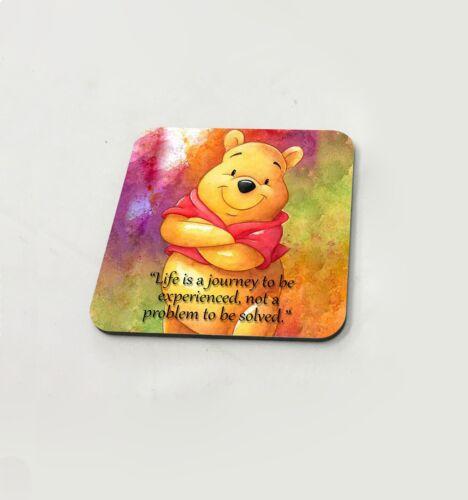 Winnie The Pooh Leben Zitat Disney Honig Tasse Untersetzer Esstisch Kork Brett