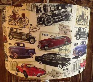 Vintage car lampshade shabby chic lamp shade hipster retro boys image is loading vintage car lampshade shabby chic lamp shade hipster aloadofball Choice Image