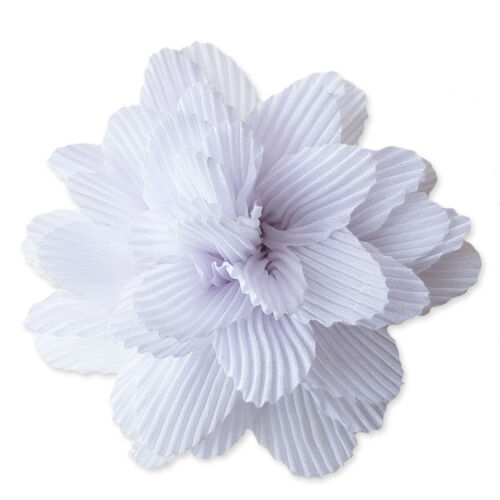 9cm Crinkle Fabric Hair Flowers Clips Bobbles Bridesmaid Wedding Dance Festival
