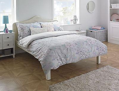 Möbel & Wohnen Hingebungsvoll Blumenmuster Grau Rosa Blau Creme Doppel 180 Tc Baumwolle Bettdecke Decke Set SorgfäLtig AusgewäHlte Materialien