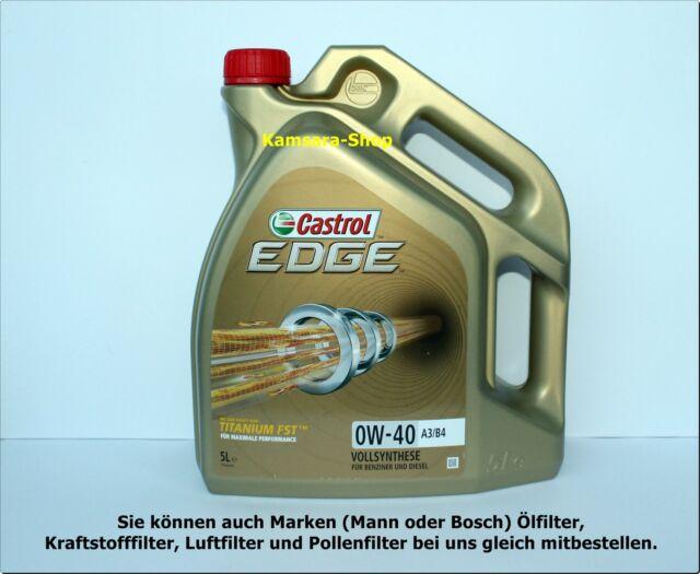 de Berlín ACEITE DE MOTOR CASTROL EDGE TITANIO FST A3 / B4 0w-40 5 Litros 0w40
