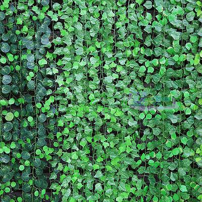 Artificial Leaf Garland Plants IVY Vine Fake Foliage Flowers Hanging Decor Green