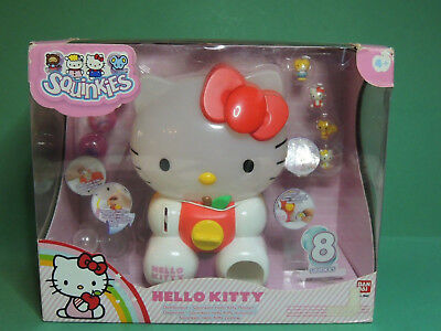 Squinkies Hello Kitty Playset #75407 Dispencer + 8 Mini Figure - Bandai 2011