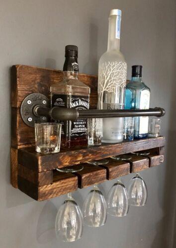 Industrial Chic Wine Rack Reclaimed Wood Glass Rack Wine Rack