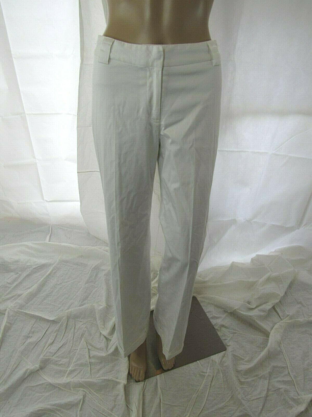 Adam Lippes Weiß Wide Leg Cuffed Pant Größe 2