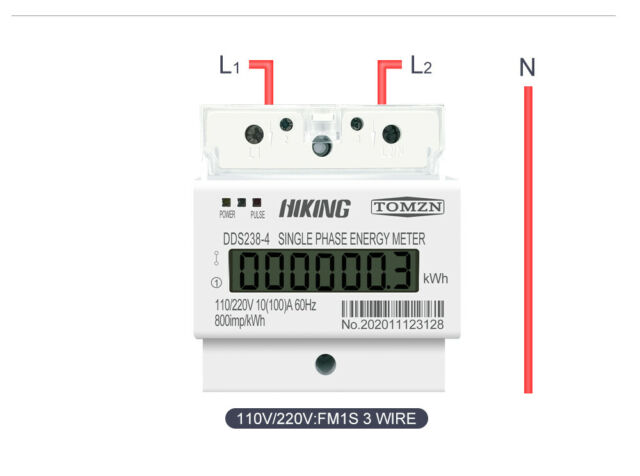 100a 110/220v 50/60hz lcd single phase 2/3wire dinrail kwh watt energy  meter