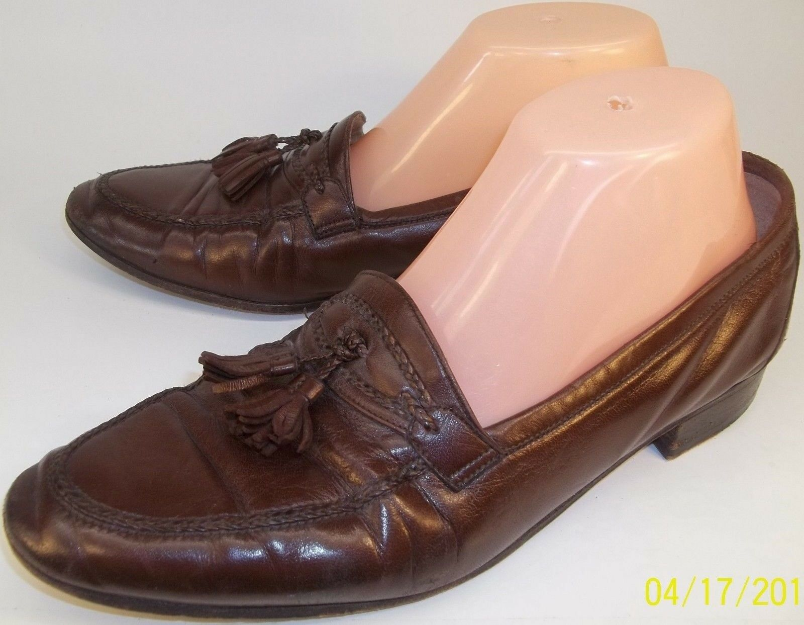 Bally Brown Albion Uomo Shoes   8M Brown Bally Pelle Tassel Loafers Wear to Work Italy 41 6e82a3