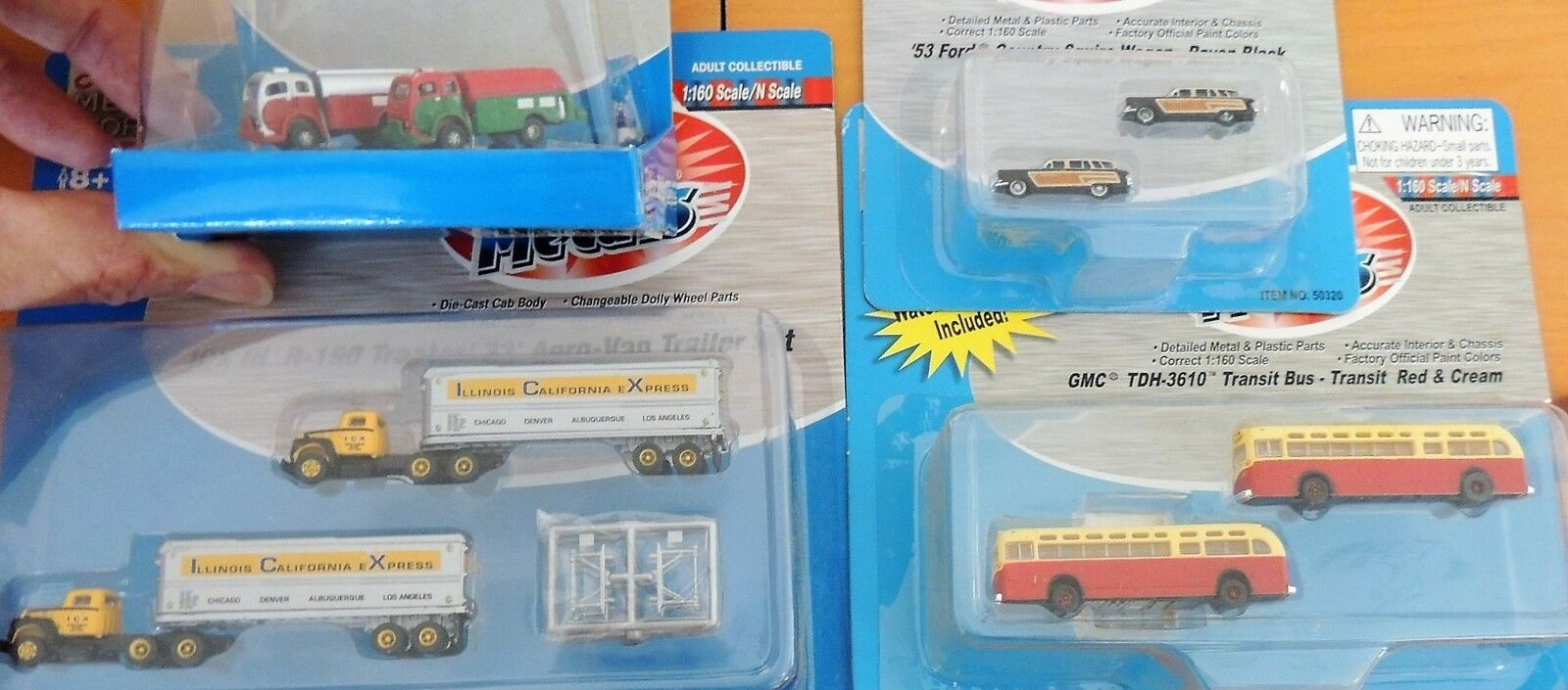 New Classic Metal Works N Scale 8 Vehículo Set