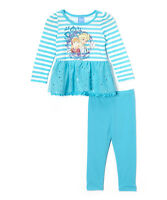 Disney Blue Frozen Family Skirted Tunic & Leggings- Size 5 Girls