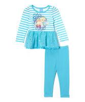 Disney Blue Frozen Family Skirted Tunic & Leggings- Size 5 Girls