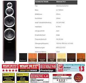 Wharfedale-Diamond-10-7-Schwarz-Blackwood-NEU-OVP-statt-918-Fachhandel