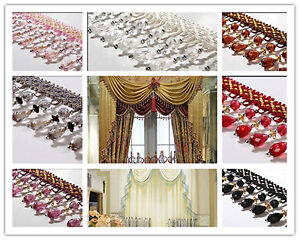 1m-Curtain-Sewing-Tassel-Fringe-Trim-Tassel-Crystal-bead-Lace-Accessory