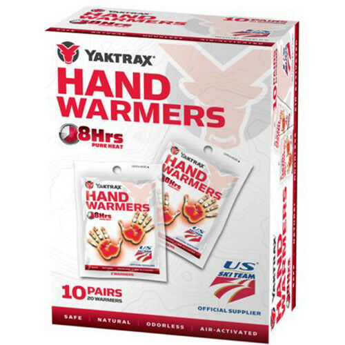 10 Pairs Yaktrax Air Activated 8 Hour Hand Warmers