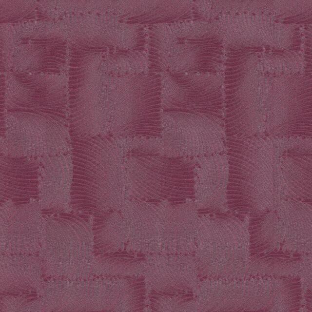 P&S International GMK Feather Pattern Wallpaper Leaf Square Metallic Fuchsia