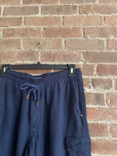 Vilebrequin Men's 100% Linen Cargo Pants, Baby Blu