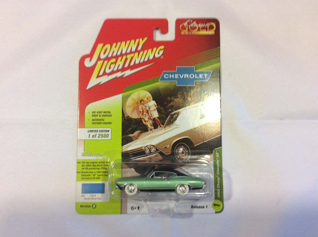Johnny Lightning jlcg 013 Classic or Ver B 1968 Chevy Chevelle Ss blanc Chase