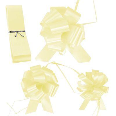 Wedding Florist Pullbows Pull Bow Pew Car Ribbon 18mm 30mm 50mm Size Ivory