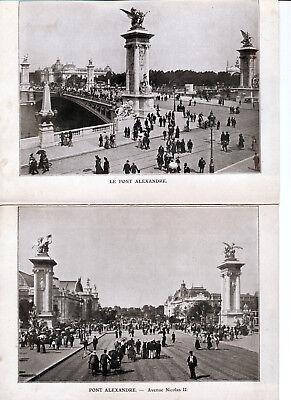 Paris 1900 Orig Photo-drucke (5) Rives De La Seine Pont Alexandre Champs-Élysées Mangelware