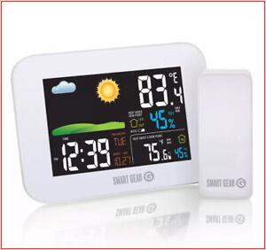 Smart-Gear-Indoor-Outdoor-Wireless-Weather-Station-Remote-Sensor-Color-Display