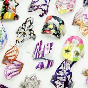 7pcs-Wholesale-lot-rings-fashion-colored-Enamel-glaze-alloy-woman-free-shipping