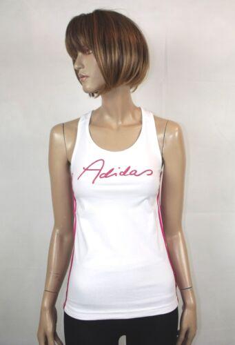 Adidas Girls Ladies Sportswear Sleeveless Top T-Shirt in White or Black