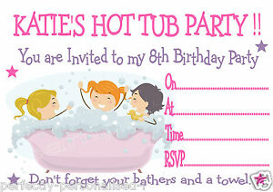 PERSONALISED HOT TUB / JACUZZI / POOL PARTY BIRTHDAY PARTY ...