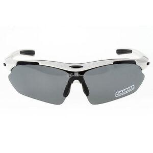 Rockbros-Polarized-Cycling-Glasses-Sunglasses-Goggles-Sports-Glasses-White-New