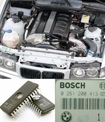 STAGE 2 PERFORMANCE chip tuning for BMW e36 M3 S50 7100rpm 22HP 413 ECU DME ECU
