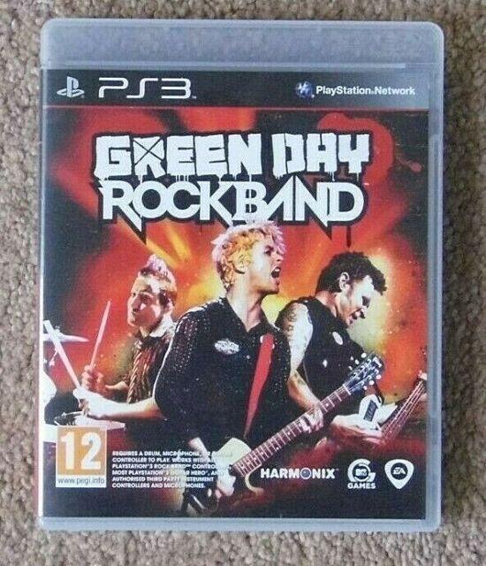 Green Day Rockband PS3 Jeu 1st classe état + MANUEL Rapide Livraison gratuite L @ @ K