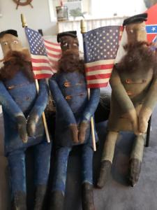 Primitive-Handmade-Americana-Union-Civil-War-Soldier-Doll