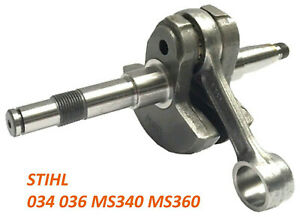 Crankshaft For Stihl 034 036 MS340 MS360 Chainsaw REP 1125 030 0407