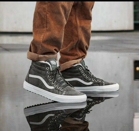 vans unisex sk8 hi mte skate shoe 12 for sale online ebay vans mens sk8 hi mte pewter asphalt skate shoes