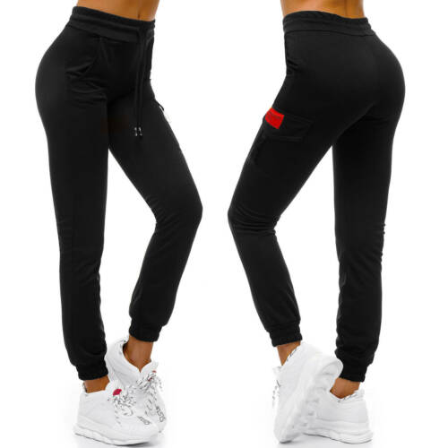 Damen Fitness Pant Body Trainingshose Sporthose Pink Joga Pants Wellness Workout