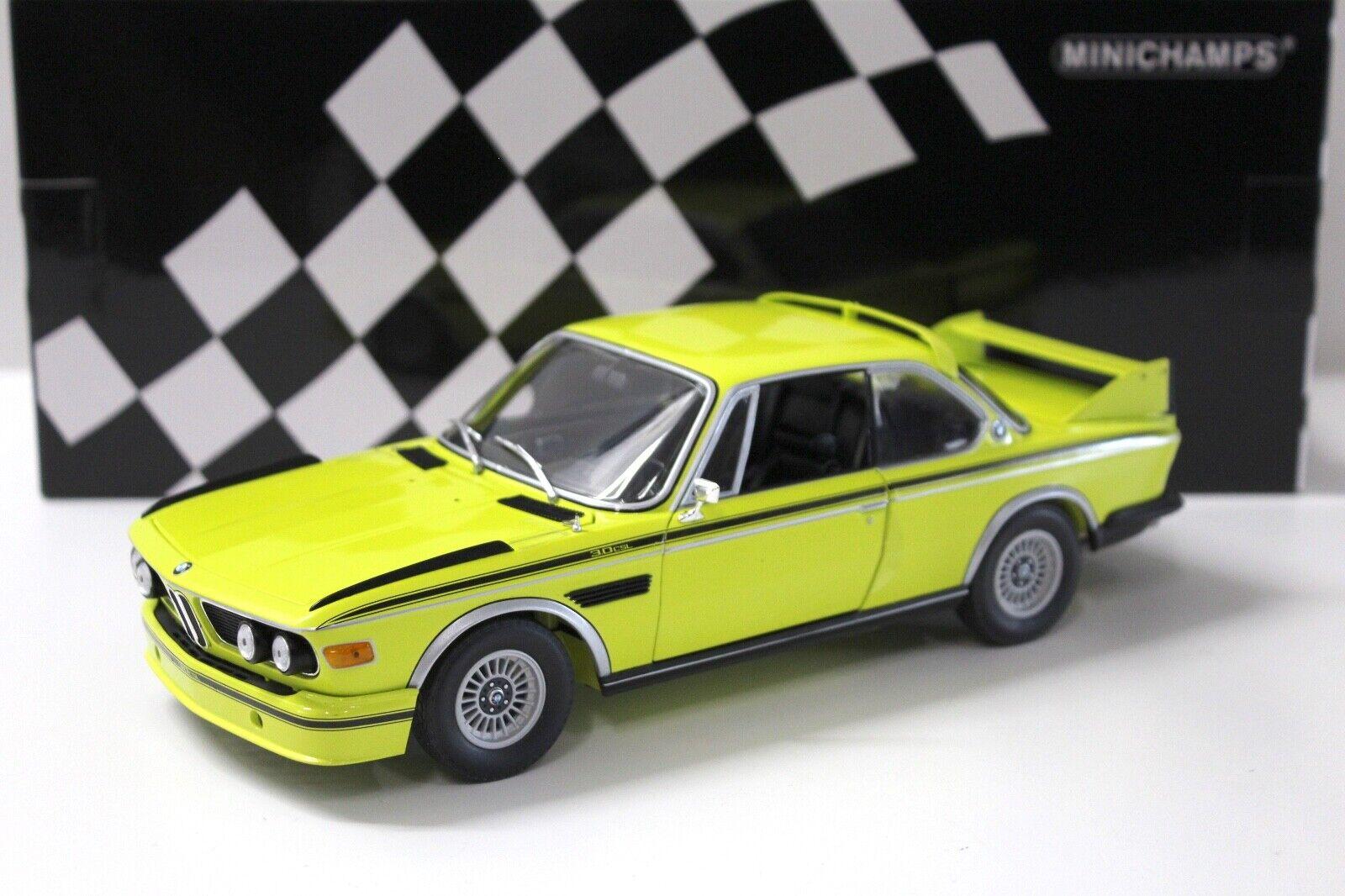 1 18 Minichamps BMW 3.0 CSL (e9) jaune 1973 New chez Premium-modelcars