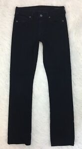 CITIZENS-OF-HUMANITY-Womens-Jeans-27-Black-Elson-Mid-Rise-Straight-Leg