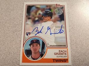 2018 Topps Series 1 Zach Granite Rookie Auto 1983 Topps Rc