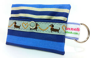 Kackbeutel-Hundetueten-Tasche-Hundekotbeutel-Spender-Waste-Blau-Streifen