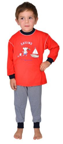 Kinder Schlafanzug Maus Sailing rot Größe 92-116